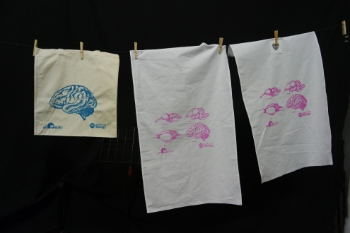 Brain evolution screen printing with the Society of Biology